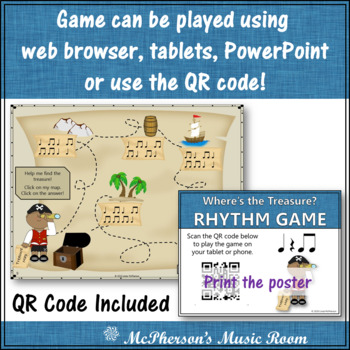 Where's the Treasure? (Eighth Notes) Interactive Rhythm Game (titi)
