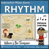 Music Game: Eighth Notes Interactive Rhythm Game {Treasure}