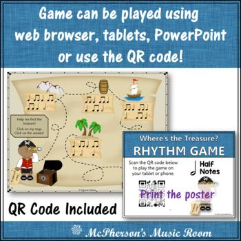 Where's the Treasure? Interactive Rhythm Game (Half Notes)