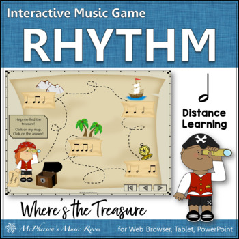 Where's the Treasure? Interactive Rhythm Game (Half Notes)