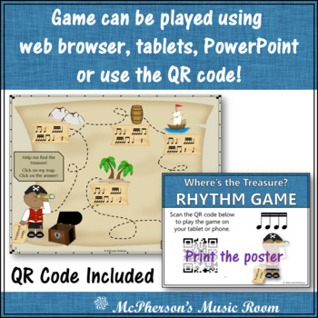 Music Game: Sixteenth Notes Interactive Rhythm Game {Treasure}