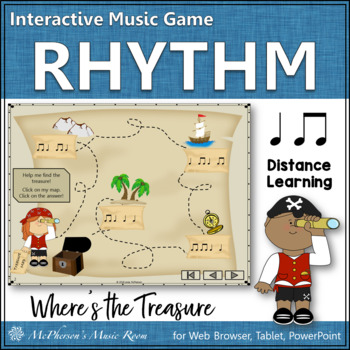 Where's the Treasure? Interactive Rhythm Game (eighth notes/quarter notes)