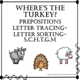 Where's the Turkey? Adapted Book Letter Tracing Picture Sorting