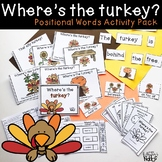 Where's the Turkey Positional Words Activity Pack