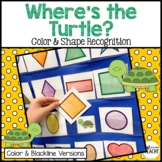 Where's the Turtle? Hide and Find Pocket Chart Game Color