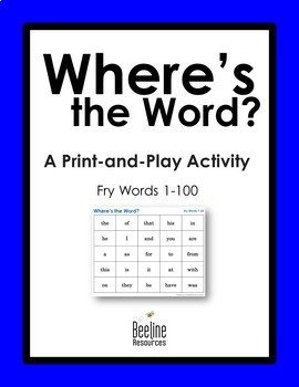 Where's the Word? *4 Sets* / Fry Words 1-100