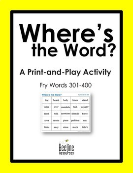 Where's the Word? *4 Sets* / Fry Words 301-400