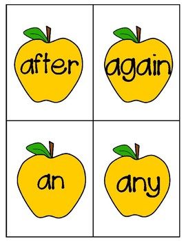 Where's the Worm? 1st Grade Sight Words Activity