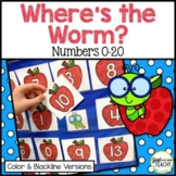 Where's the Worm? Hide and Find Pocket Chart Game for Numb