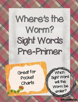 Where's the Worm Pre-Primer Sight Word Activity