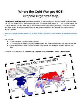 "Where the Cold War Got ""HOT""- Graphic Organizer Map"