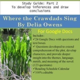 Where the Crawdads Sing Part 2 Study Guide for Google Docs