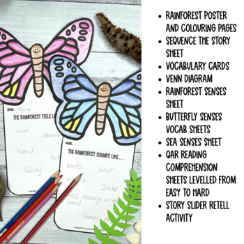 Where the Forest Meets the Sea Reading Comprehension Activites