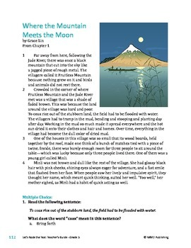 Where the Mountain Meets the Moon - Literary Text Test Prep
