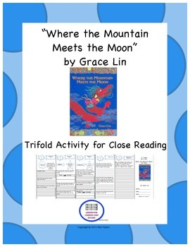 """Where the Mountain Meets the Moon"" Trifold Activity-Readi"