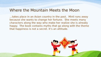 Where the Mountain Meets the Moon thematic PowerPoint