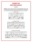 Where the Red Fern Grows: 10 Quotefall Puzzles—Similies from the Book!