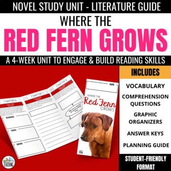 Where the Red Fern Grows Foldable Novel Study Unit