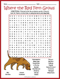Where the Red Fern Grows Word Search Puzzle