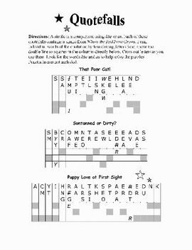 Where the Red Fern Grows: 31 PAGES OF WORD PUZZLES—Fun!