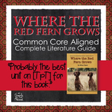 Where the Red Fern Grows Novel Study - Activities PACKET |