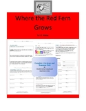 Where the Red Fern Grows Complete Literature and Grammar Unit