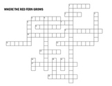 Where the Red Fern Grows Crossword Puzzle