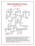 Where the Red Fern Grows: Homophone Crossword—One of a Kind!