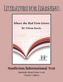 Where the Red Fern Grows Nonfiction/Informational Text Tea