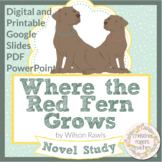 Where the Red Fern Grows Novel Study Distance Learning Dig