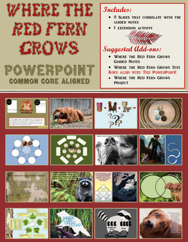Where the Red Fern Grows PowerPoint (Common Core Aligned)