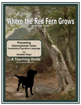 Where the Red Fern Grows Prereading, Informational Texts, Vocabulary