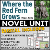 Where the Red Fern Grows Unit - Novel Study Common Core Aligned