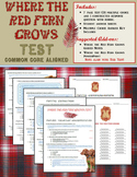 Where the Red Fern Grows Test (Common Core Aligned)