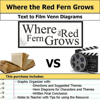 Where the Red Fern Grows - Text to Film Venn Diagram & Written Conclusion
