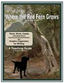 Where the Red Fern Grows Thinking and Writing Prompts with Graphic Organizers