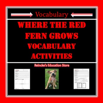 Where the Red Fern Grows Vocabulary Activities