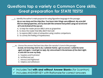 Where the Red Fern Grows - Whole Novel Test with Common Core Stems