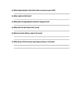 Where the River Begins Comprehension Questions