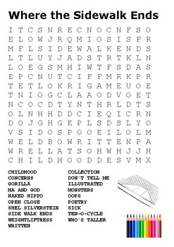Where the Sidewalk Ends Word Search