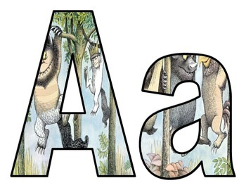 Where the Wild Things Are BB letters