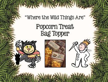 Where the Wild Things Are Bag Treat Topper