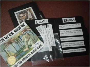 Where the Wild Things Are Cause and Effect Folder Kit