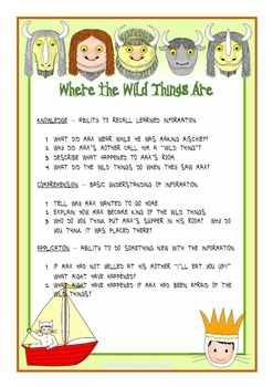 Where the Wild Things Are Comprehension