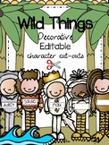 Where the Wild Things Are {EDITABLE Character Cut-Outs Pack}