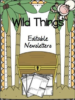 Where the Wild Things Are {Editable Newsletter Pack}