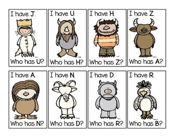 Where the Wild Things Are  I have. Who has? Upper Case Alphabet Game