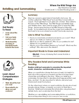 Where the Wild Things Are Lesson Plans & Activities Package, Second Grade (CCSS)