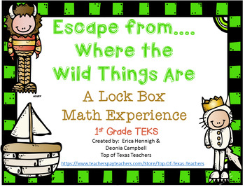 Where the Wild Things Are Lock Box Escape Game  1st Grade Math (TEKS Based)