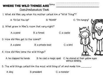 Where the Wild Things Are Math & Literacy Book Companion